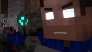 Minecraft анимация война снежками
