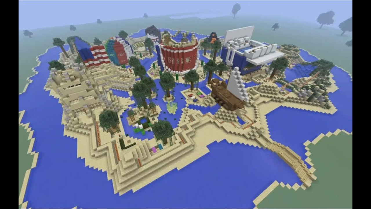 Jong Quot Modern Minecraft Quot Builds The Beach Oasis Youtube