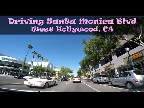 #82  Driving Santa Monica Blvd, West Hollywood CA
