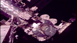 Space Station Crew Members Walk in Space to Complete Robotics Upgrades