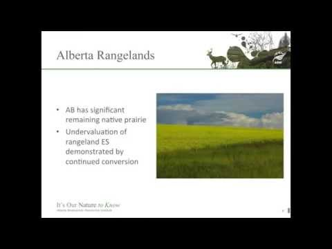 Shannon White: Putting Alberta's ecosystem services on the map: Focus on rangeland