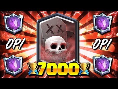 DESTROYS LADDER META!! 7000+ TROPHY BEST GRAVEYARD DECK! - Clash Royale