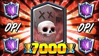 DESTROYS LADDER META!! 7000+ TROPHY BEST GRAVEYARD DECK! - Clash Royale