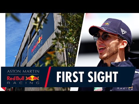 Our new home away from home! | Pierre Gasly sees the Red Bull F1 Energy Station for the first time.