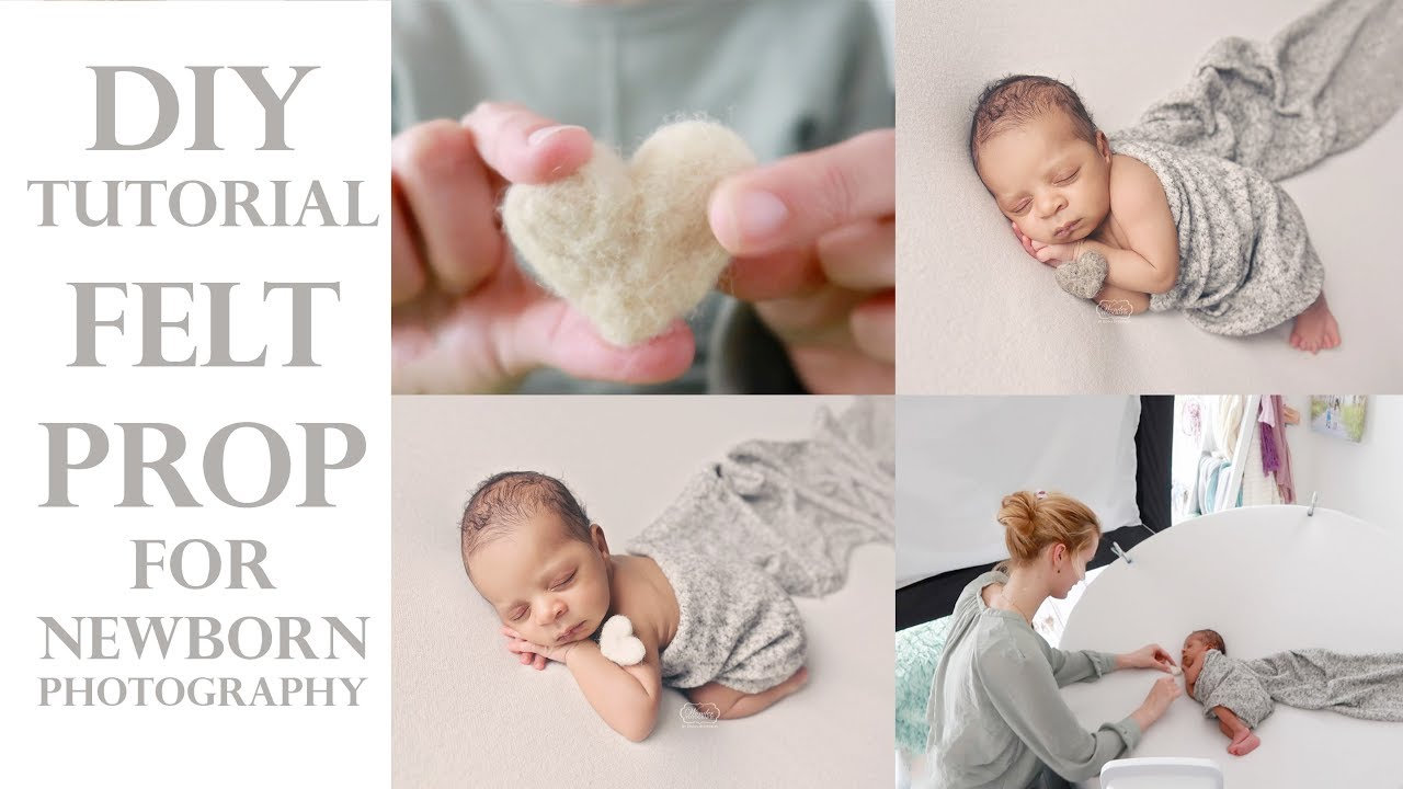 Diy Tutorial Felt Prop For Newborn Baby Photography Tutorial De Fieltro Subtitulos Espanol