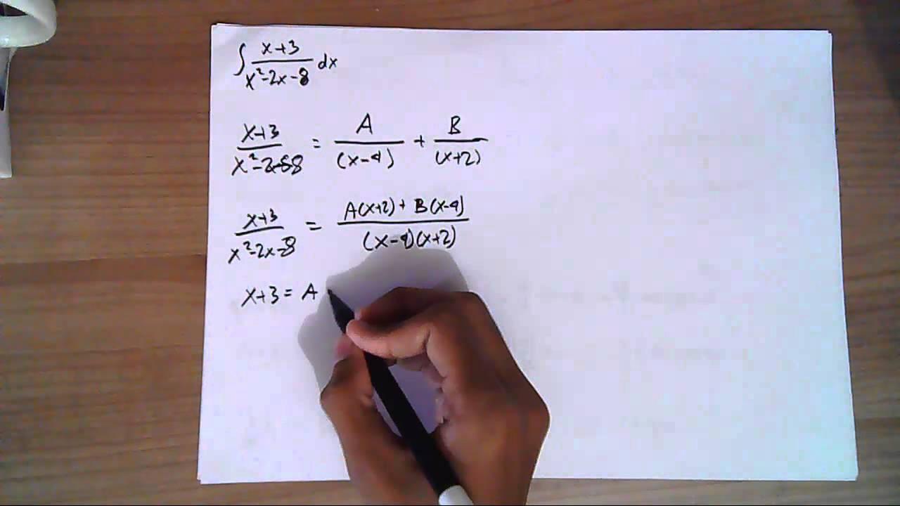 Kalkulus Contoh Soal Integral Dengan Pemfaktoran Pecahan