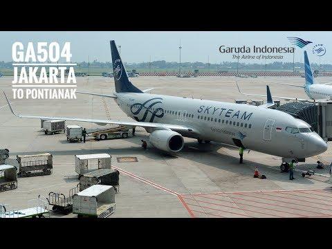 Garuda Indonesia Ga504 Flight Experience Jakarta To Pontianak Boeing 737 800 Economy Class Youtube
