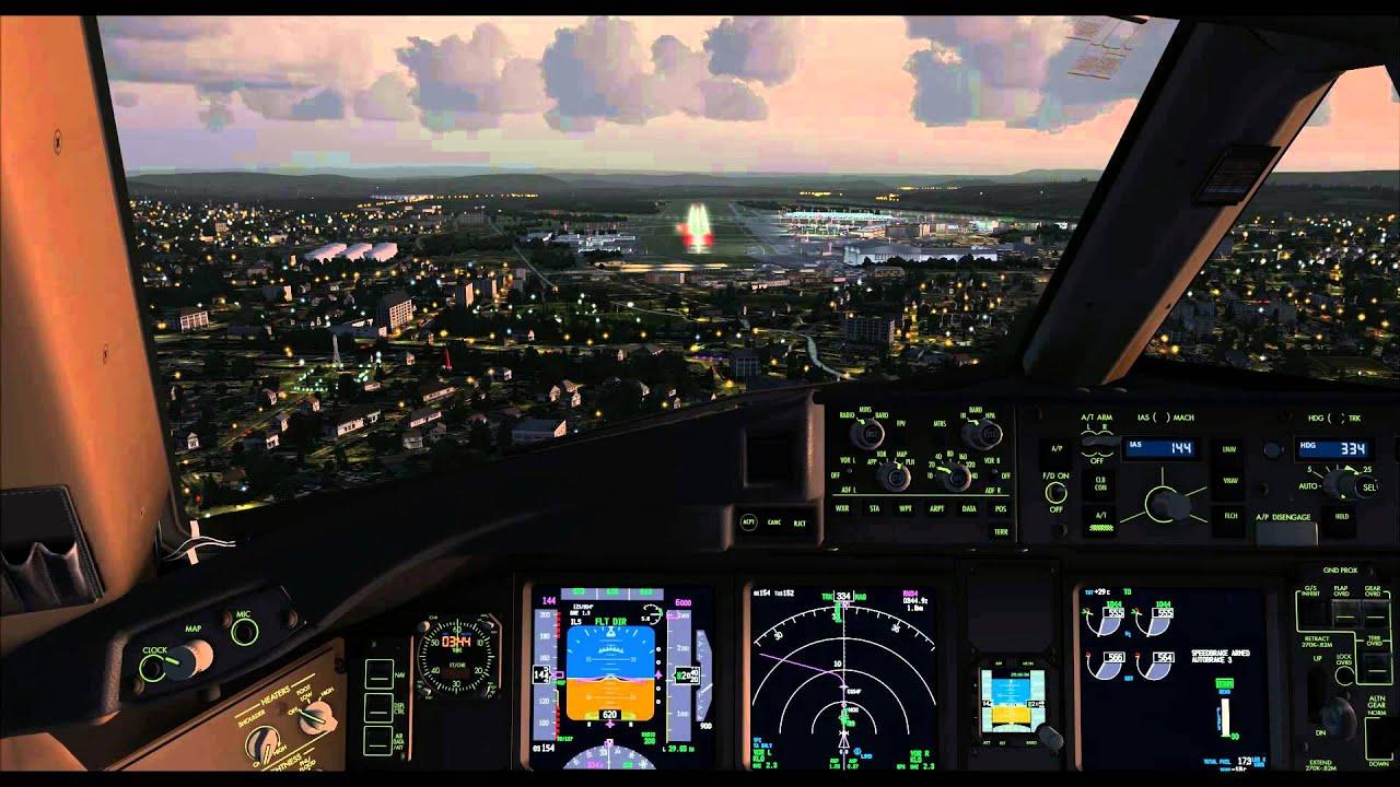 Fsx Wallpaper Hd Fsx Pmdg 777 Landing At Zurich Airport In Switzerland