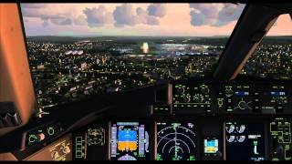 FSX | PMDG 777 | Landing at Zurich Airport in Switzerland