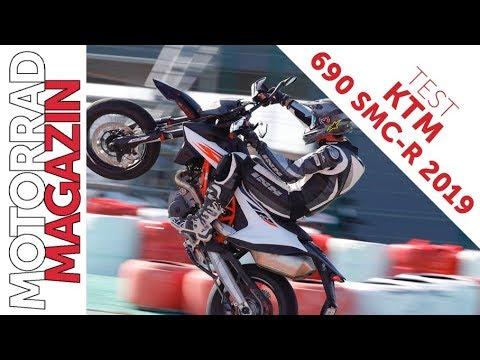 KTM  SMC R  Test - Wheelies mit Traktionskontrolle, Stoppies mit ABS.