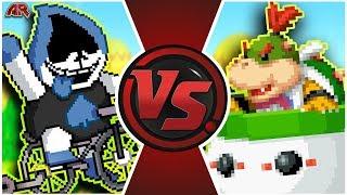 LANCER vs BOWSER JR! (Mario vs Undertale, Deltarune Animation)   Cartoon Fight Club BONUS