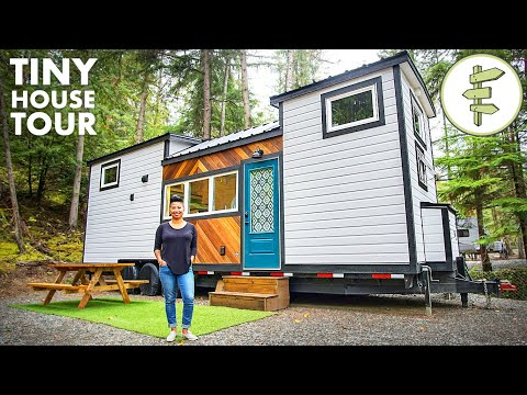 Woman's Modern Tiny House Is Super Spacious & Functional