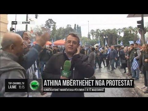 Μακεδονομάχος επιτίθεται σε Αλβανό ρεπόρτερ γιατί τον περνάει για Σκοπιανό | Luben TV