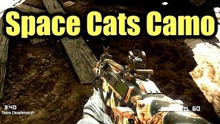 CoD Ghosts SPACE CATS Camo On ALL Weapons - Every Gun SpaceCats Camo