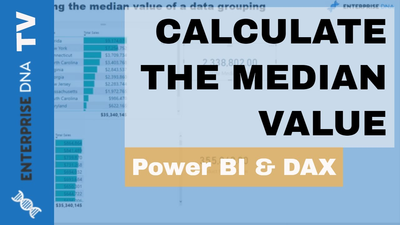 calculate the median value in power bi statistical analysis wdax