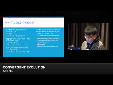 "CppCon 2014: Lightning Talks - Karl Niu ""Convergent Evolution"""