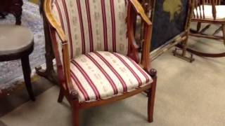 Antique Furniture, Eastlake Chair, Antique Rocking Chair, Antique Barrel Chair, And Vintage Chairs