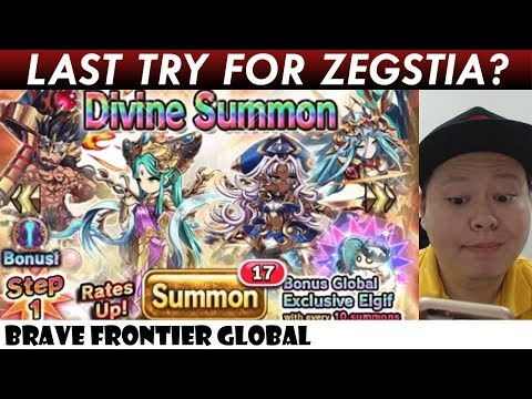 Last Try For Zegstia? 15 Pulls Rare Summon (Brave Frontier Global)