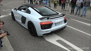 Akrapovic Audi R8 V10+ revs & lovely sound 1080p