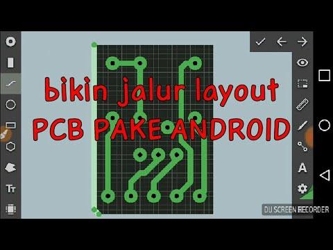Cara Bikin Jalur Pcb Dengan Android Youtube
