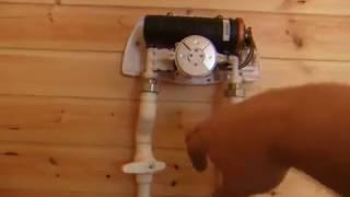 Проточный электро водонагреватель на даче