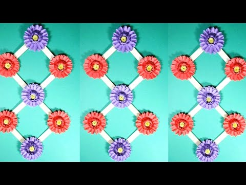Amazing Wall Hanging Idea with Beautiful Flower | Flower Making tutorials for Home Decoration