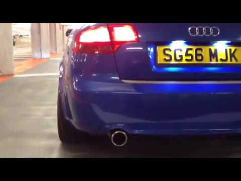 audi a4 3 0tdi b7 custom exhaust youtube. Black Bedroom Furniture Sets. Home Design Ideas