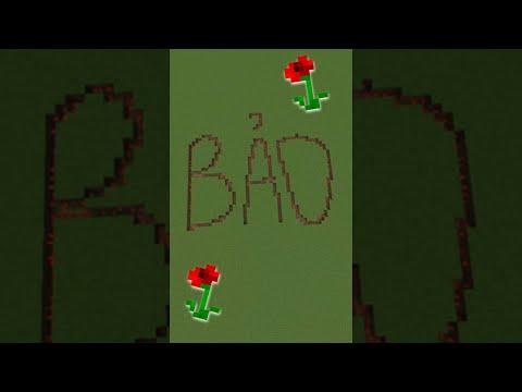 Dùng Hoa để vẽ tên cho Fan siêu độc lạ trong Minecraft | VinhMC
