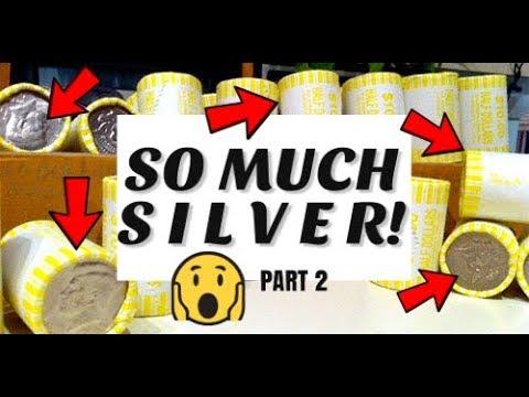 MEGA Silver Part 2 - Half Dollar Coin Roll Hunt