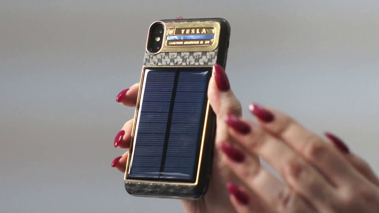 finest selection 75f76 cf6c6 Buy iPhone X TESLA with a solar panel by Caviar