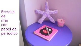 estrella de mar con papel de peridico