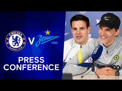 Thomas Tuchel & Cesar Azpilicueta Live press conference: Chelsea - FC Zenit |  Champions League