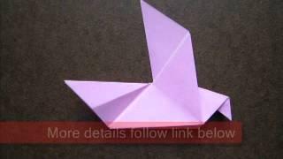 Paper Folding Origami Dove