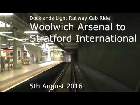 Docklands Light Railway Cab Ride - Woolwich Arsenal to Stratford International - 5th August 2016