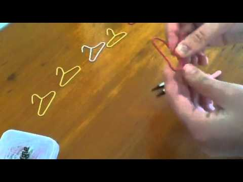 How to make paper clip hangers   YouTube