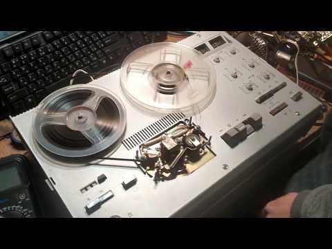 Магнитофона ELFA 201 снова в ремонте. Не пишет один канал