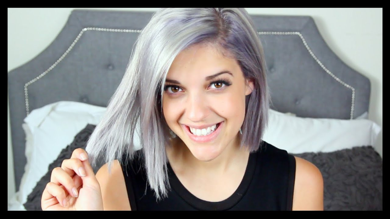 dying hair silver grey catrific