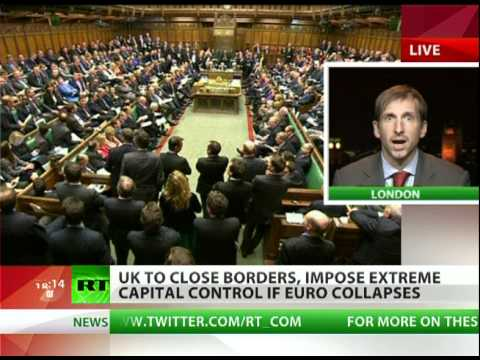 UK to close borders, evacuate expats if euro collapses