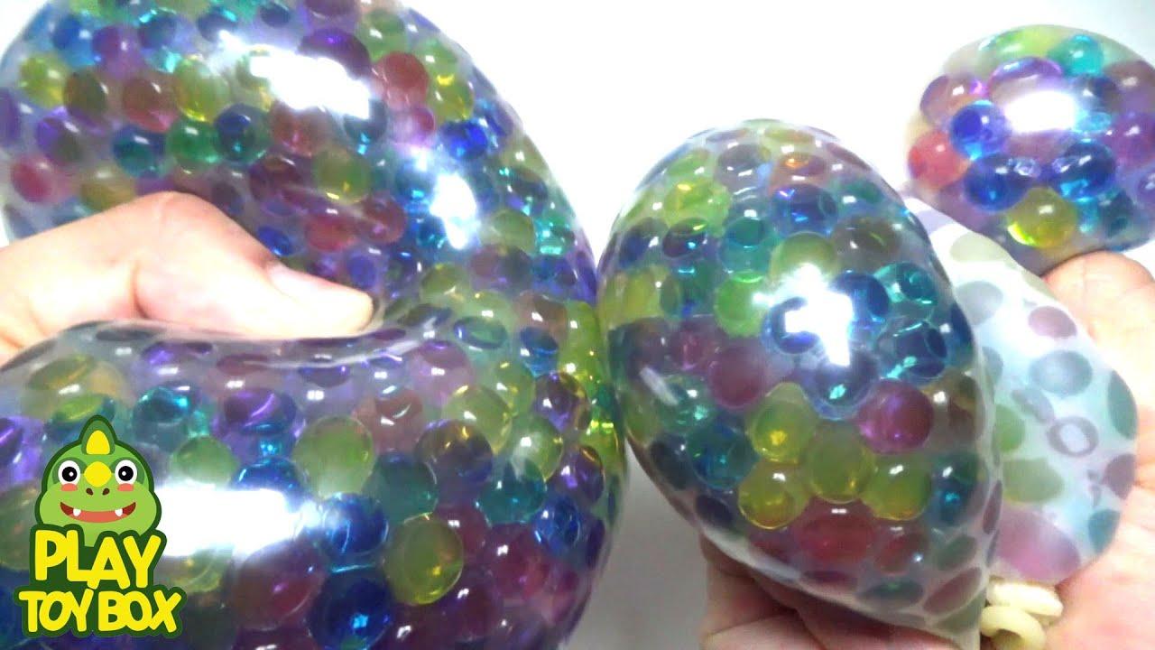 Diy Squishy Balloon : Stress Ball Balloons Orbeez DIY Squishy Learn Colors - YouTube