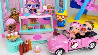 Ice cream shop baby doll house story music play - ToyMong TV 토이몽