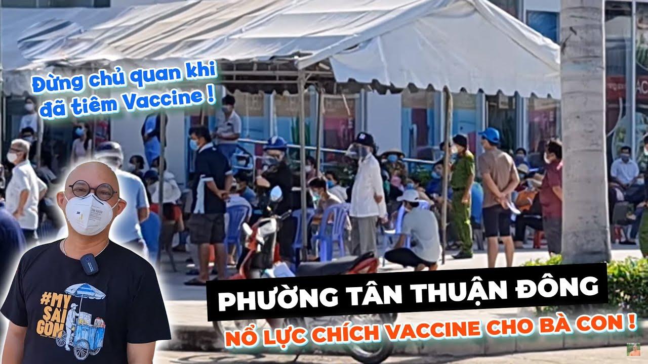 Khu dân cư Trần Trọng Cung, Tân Thuận Đông phấn khởi đi chích với sự hỗ trợ tích cực của địa phương!