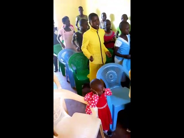 Children Singing GMFC WFF Moi's Bridge Kenya