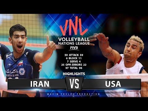 Iran vs USA | Highlights Men's VNL 2019