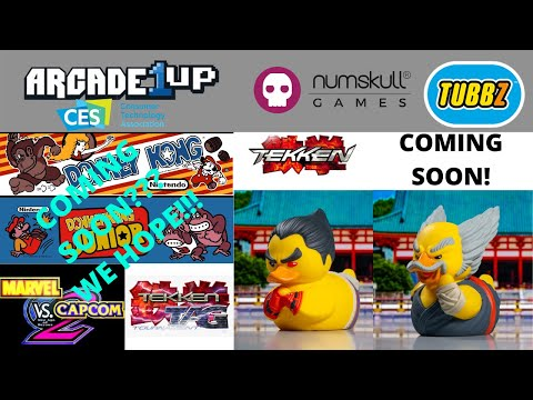 Arcade1up: CES 2021 New Machines? Numskull Designs Tekken Rubber Duckies TUBBZ Announced from PsykoGamer