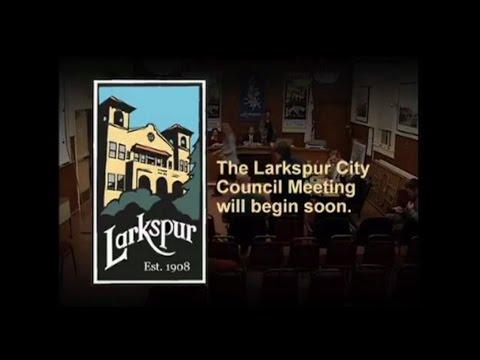 Larkspur City Council Meeting January 18, 2017