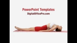Yoga Meditation PowerPoint Template Backgrounds - DigitalOfficePro #00781