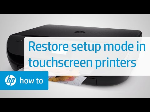 Restore Setup Mode on HP Printers With a Touchscreen Display | HP Printers | HP