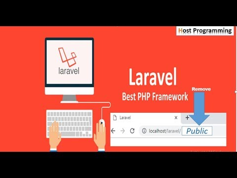 """How To Remove """"public/index.php"""" From URL In Laravel 5.7 (hindi)"""
