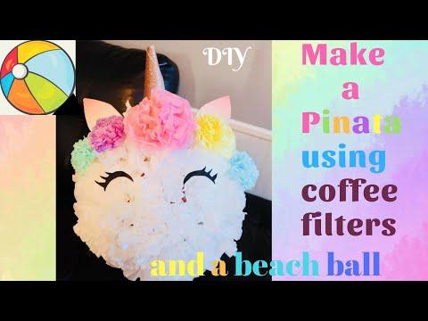 HOW TO MAKE A PRETTY PINATA / DIY UNICORN PINATA