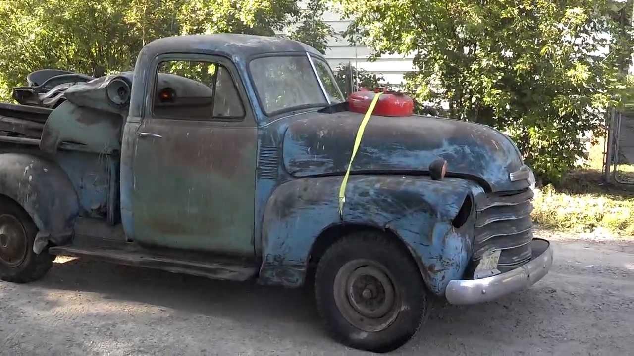 Half Ton Truck >> 1948 Chevy truck 3100 part 1 - YouTube